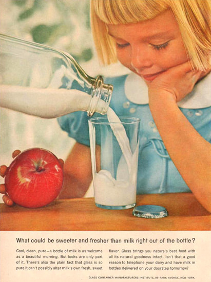 Glass Container Manufacturers Milk Girl 1957 | Vintage Ad and Cover Art 1891-1970