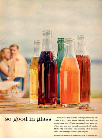 Glass Container Manufacturers Soda Bottles 1958 | Vintage Ad and Cover Art 1891-1970