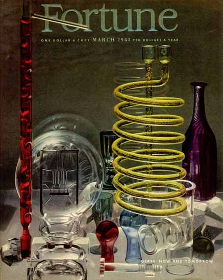 Glass Now and Tomorrow Fortune Magazine March 1943 Copyright | Fortune Magazine Graphic Art Covers 1930-1959