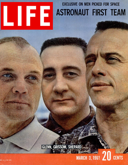 Glenn Grissom Shepard for Space 3 Mar 1961 Copyright Life Magazine | Life Magazine Color Photo Covers 1937-1970