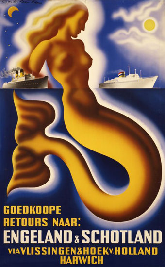 Goedkoope Engeland Schotland 1945 Mermaid | Sex Appeal Vintage Ads and Covers 1891-1970