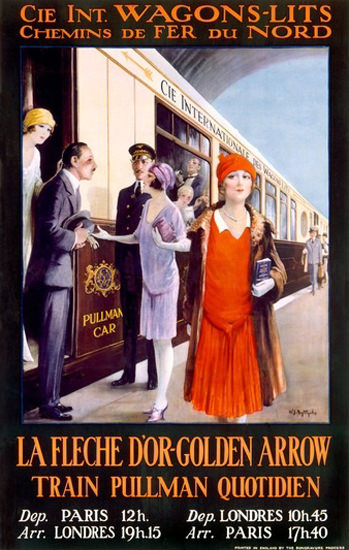 Golden Arrow Wagon Lits Pullman Paris London | Sex Appeal Vintage Ads and Covers 1891-1970