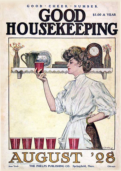 Good Housekeeping Copyright 1908 Good Cheer Number | Vintage Ad and Cover Art 1891-1970