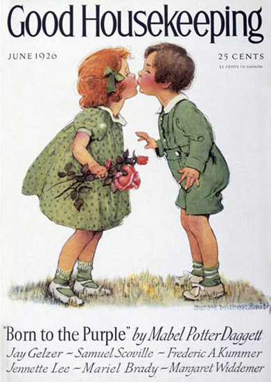 Good Housekeeping Copyright 1926 The First Kiss | Vintage Ad and Cover Art 1891-1970