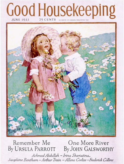 Good Housekeeping Copyright 1933 The Little Gentleman | Vintage Ad and Cover Art 1891-1970