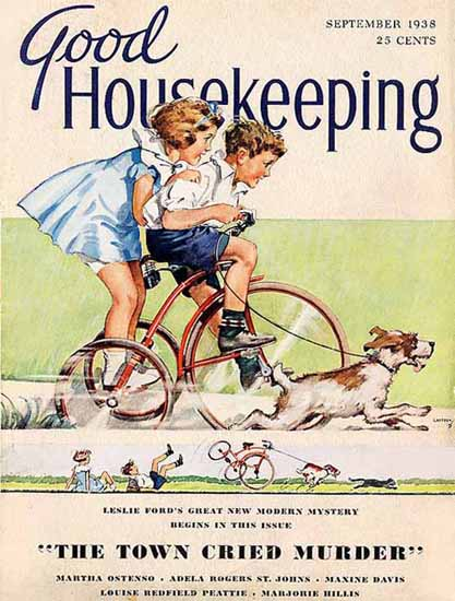 Good Housekeeping Cover Copyright 1938 | Vintage Ad and Cover Art 1891-1970