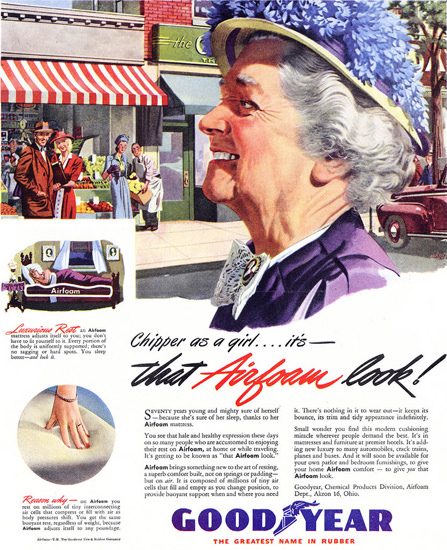 GoodYear Chipper As A Girl 1946   Vintage Ad and Cover Art 1891-1970