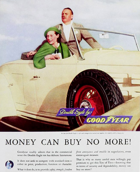 GoodYear Double Eagle Can Buy No More 1930s | Vintage Ad and Cover Art 1891-1970