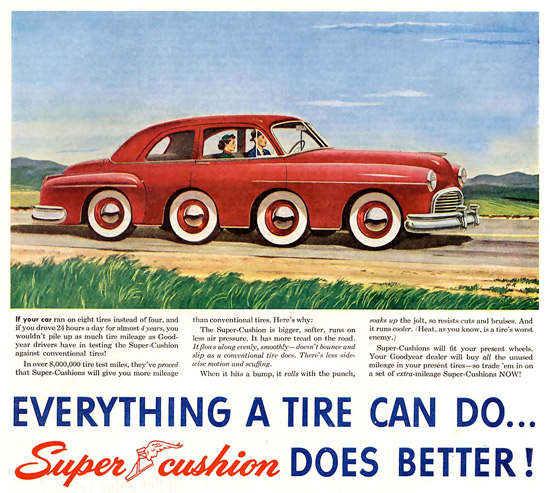 GoodYear Everything A Tire Can Do 1949 | Vintage Ad and Cover Art 1891-1970