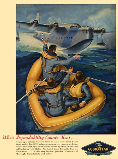 GoodYear When Dependability Counts 1940s | Vintage War Propaganda Posters 1891-1970