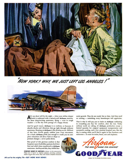 GoodYear Why We Just Left Los Angeles 1945 | Sex Appeal Vintage Ads and Covers 1891-1970