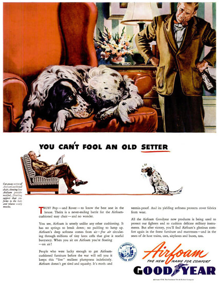 GoodYear You Cant Fool And Old Setter 1944 | Vintage Ad and Cover Art 1891-1970