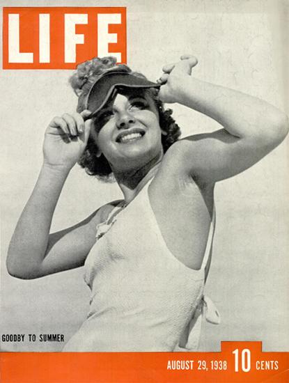 Goodby to Summer 29 Aug 1938 Copyright Life Magazine   Life Magazine BW Photo Covers 1936-1970
