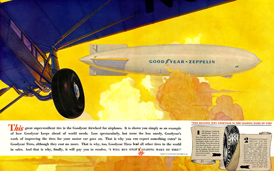 Goodyear Airweel Zeppelin 1931 | Vintage Ad and Cover Art 1891-1970