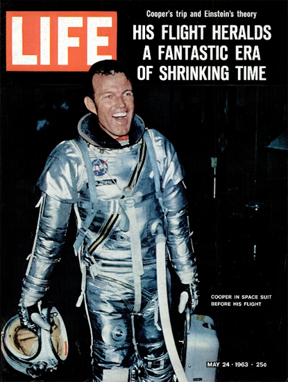 Gordon Cooper Mercury Launch 24 May 1963 Copyright Life Magazine | Life Magazine Color Photo Covers 1937-1970