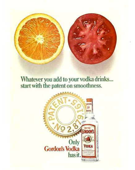 Gordons Vodka Whatever You Add 1967 | Vintage Ad and Cover Art 1891-1970