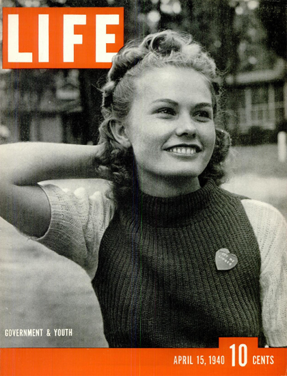 Government and Youth 15 Apr 1940 Copyright Life Magazine | Life Magazine BW Photo Covers 1936-1970