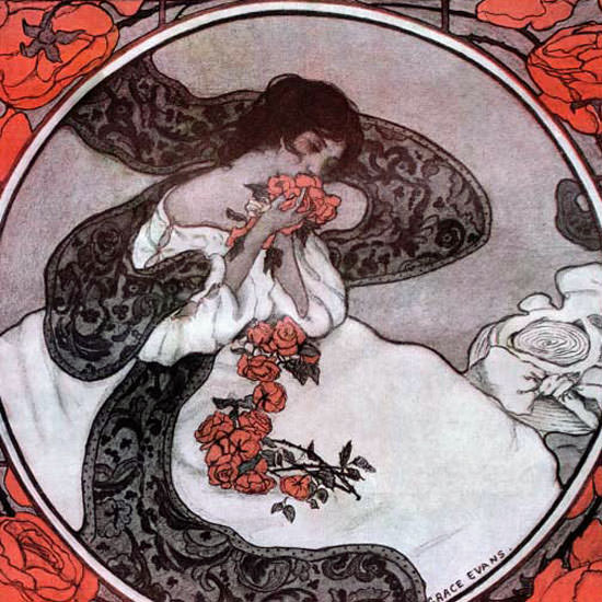 Grace Evans Saturday Evening Post Cover Art 1905_05_27 Copyright crop | Best of 1891-1919 Ad and Cover Art