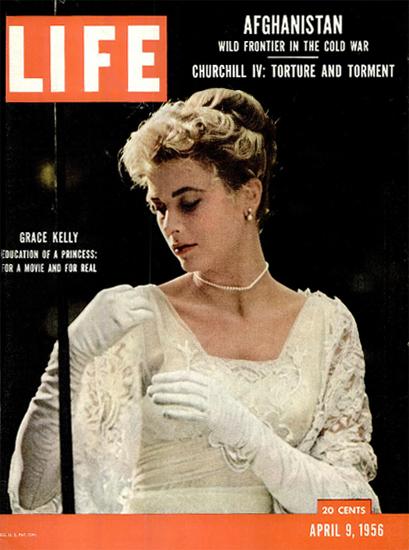 Grace Kelly Education of a Princess 9 Apr 1956 Copyright Life Magazine | Life Magazine Color Photo Covers 1937-1970