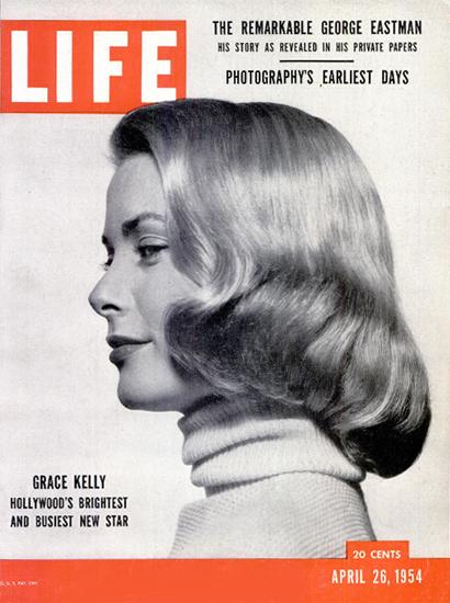Grace Kelly The Brightest Star 26 Apr 1954 Copyright Life Magazine | Life Magazine BW Photo Covers 1936-1970