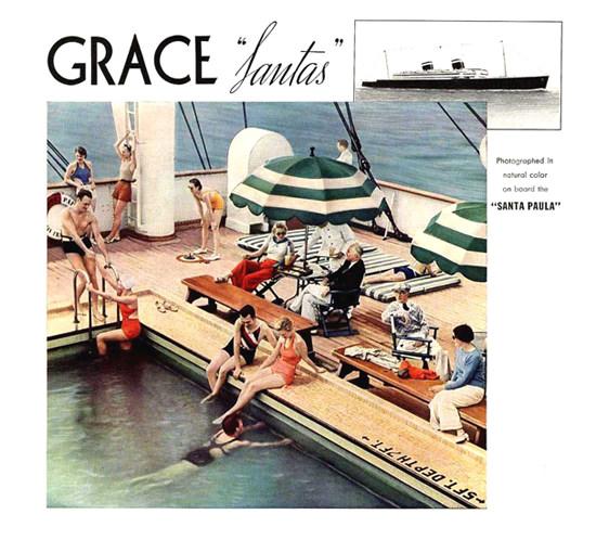 Grace Line Santas Santa Paula 1935 | Vintage Travel Posters 1891-1970