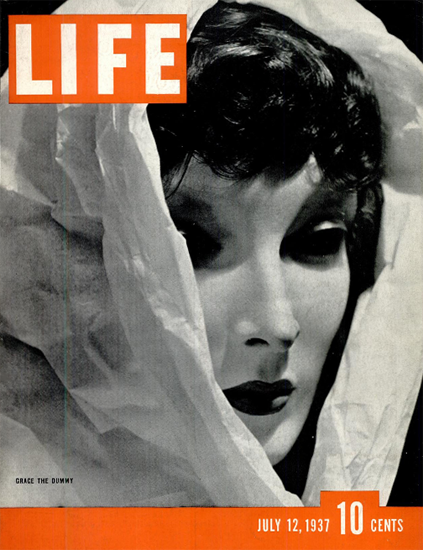 Grace the Dummy 12 Jul 1937 Copyright Life Magazine | Life Magazine BW Photo Covers 1936-1970