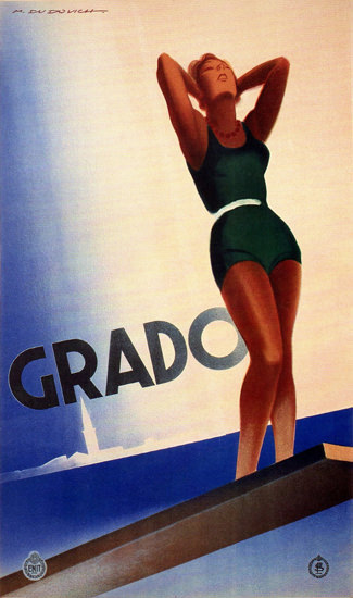 Grado 1933 Marcello Dudovich | Sex Appeal Vintage Ads and Covers 1891-1970