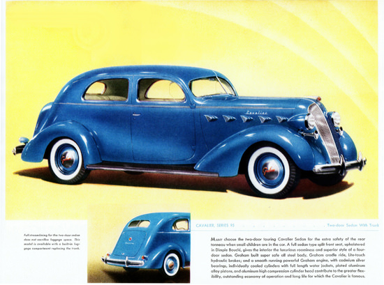 Graham Cavalier Series 95  Sedan Trunk 1937 | Vintage Cars 1891-1970