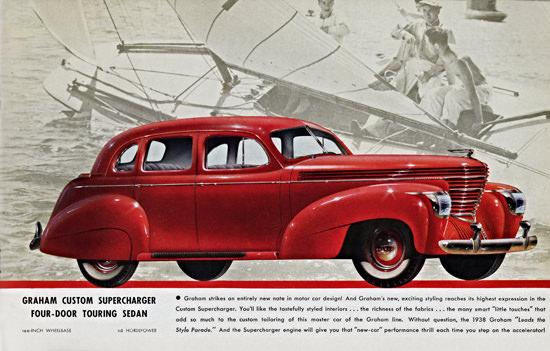 Graham Custom Supercharger Touring 1938 | Vintage Cars 1891-1970