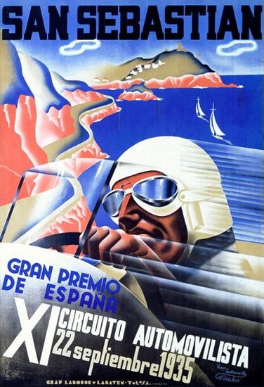 Gran Premio De Espana San Sebastian 1935 | Vintage Ad and Cover Art 1891-1970