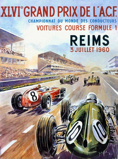 Grand Prix ACF Reims 1960 France | Vintage Ad and Cover Art 1891-1970