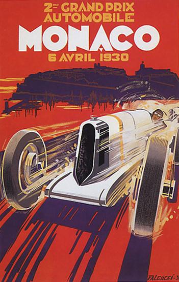 Grand Prix Automobile Monaco 1930 | Vintage Ad and Cover Art 1891-1970