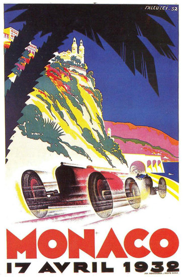 Grand Prix Automobile Monaco 1932 | Vintage Ad and Cover Art 1891-1970