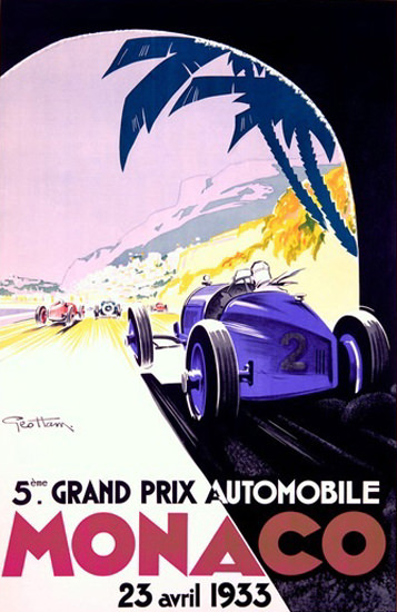 Grand Prix Automobile Monaco 1933 Geo Ham | Vintage Ad and Cover Art 1891-1970