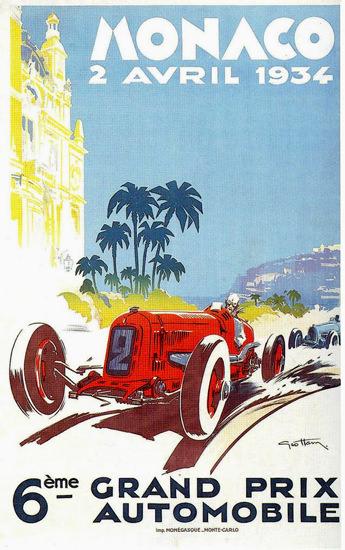 Grand Prix Automobile Monaco 1934 | Vintage Ad and Cover Art 1891-1970
