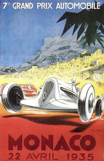 Grand Prix Automobile Monaco 1935 | Vintage Ad and Cover Art 1891-1970