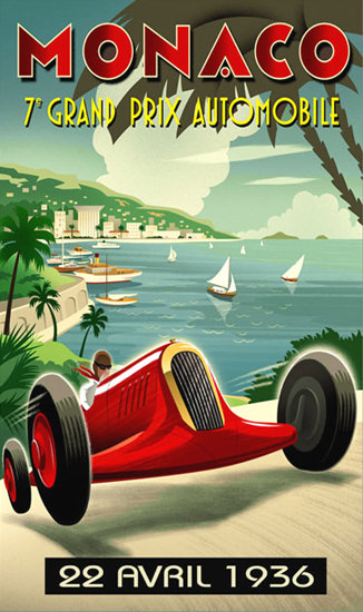 Grand Prix Automobile Monaco 1936 2 | Vintage Ad and Cover Art 1891-1970