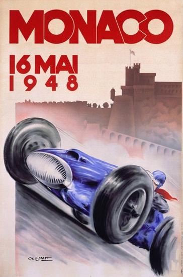 Grand Prix Automobile Monaco 1948 Geo Ham | Vintage Ad and Cover Art 1891-1970