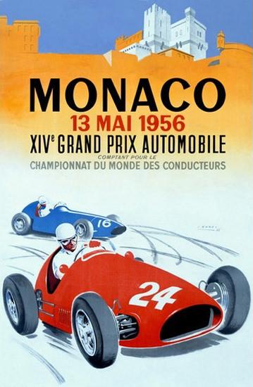 Grand Prix Automobile Monaco 1956 J Ramel B | Vintage Ad and Cover Art 1891-1970