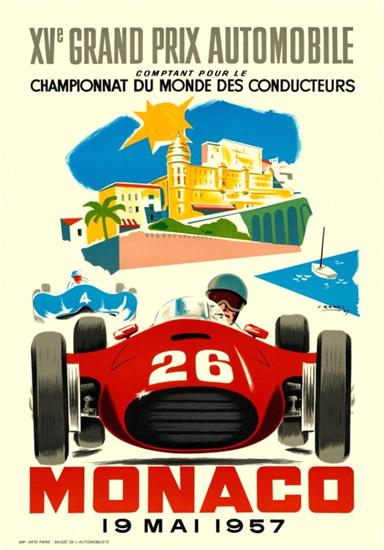 Grand Prix Automobile Monaco 1957   Vintage Ad and Cover Art 1891-1970
