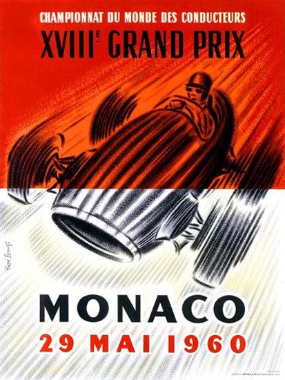 Grand Prix Automobile Monaco 1960 Jose Lorenzi | Vintage Ad and Cover Art 1891-1970