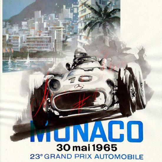Grand Prix Automobile Monaco 1965 | Vintage Ad and Cover Art 1891-1970