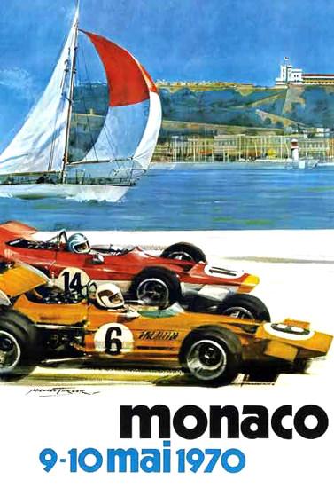 Grand Prix Automobile Monaco 1970 | Vintage Ad and Cover Art 1891-1970