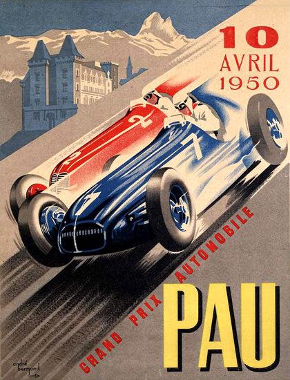 Grand Prix Automobile PAU 1950 | Vintage Ad and Cover Art 1891-1970
