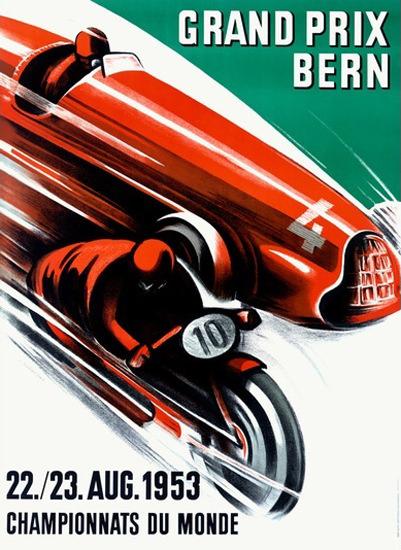 Grand Prix Bern 1953 Championnats Du Monde | Vintage Ad and Cover Art 1891-1970