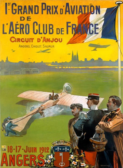 Grand Prix D Aviation Aero Club De France | Vintage Ad and Cover Art 1891-1970