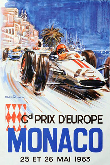 Grand Prix D Europe Monaco 1963 | Vintage Ad and Cover Art 1891-1970