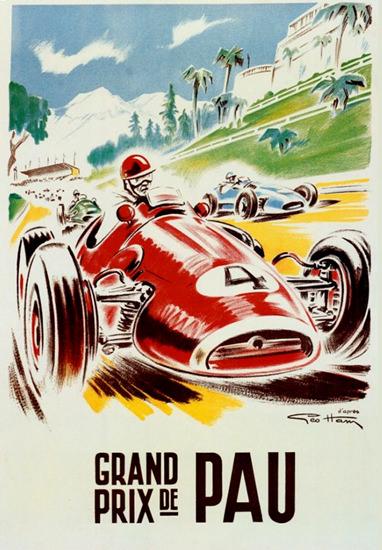 Grand Prix De Pau 1956   Vintage Ad and Cover Art 1891-1970