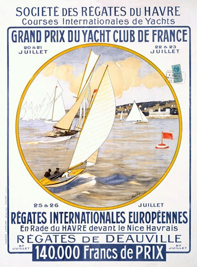 Grand Prix Du Yacht De France Societe Regates | Vintage Ad and Cover Art 1891-1970