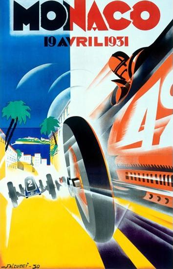Grand Prix Monaco 1931 Robert Falcucci | Vintage Ad and Cover Art 1891-1970